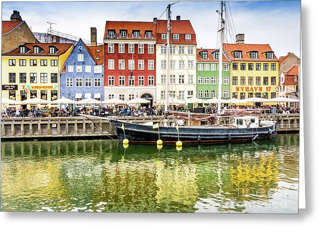 Nyhavn, Copenhagen Greeting Card
