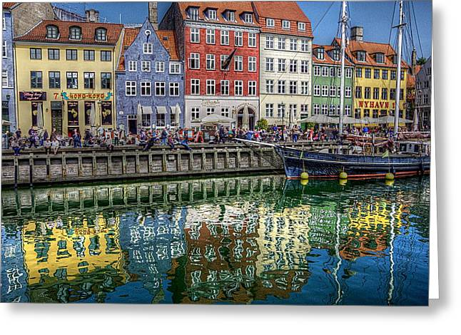 Nyhavn Harbor Area, Copenhagen Greeting Card by Karen McKenzie McAdoo