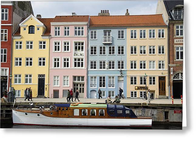 Nyhavn Pastels Greeting Card by Eric Nielsen
