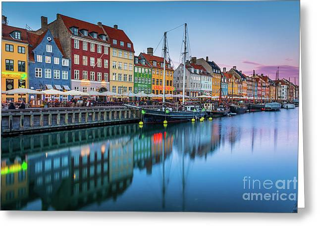 Nyhavn Reflections Greeting Card