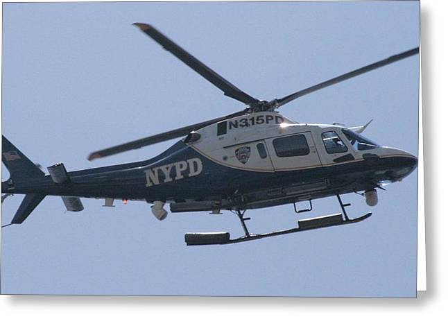 Nypd Greeting Cards - NYPD Aviation Unit Greeting Card by Christopher Kirby