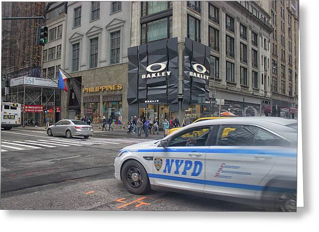 Nypd Greeting Card by Martin Newman