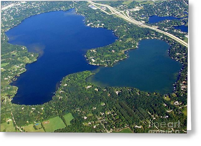 O-008 Oconomowoc Lake Waukesha County Wisconsin Greeting Card