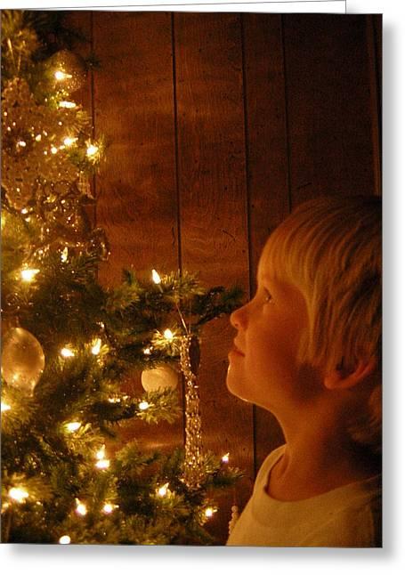 O Christmas Tree Greeting Card by Deena Keller
