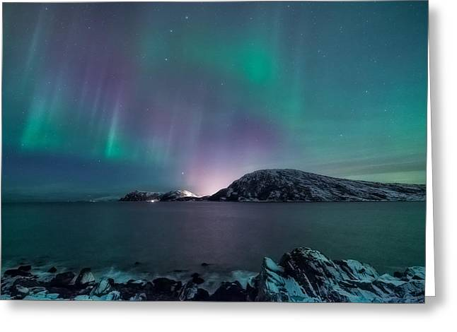 O Holy Night Greeting Card by Tor-Ivar Naess