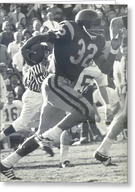 O J Simpson - Rose Bowl 1969 Greeting Card