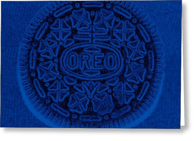 Oreo Greeting Cards - O R E O In Blue Greeting Card by Rob Hans