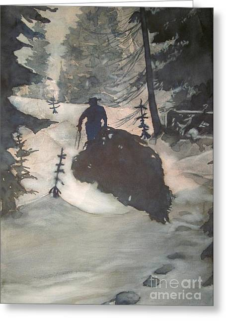 Greeting Card featuring the painting O Tannenbaum by Elizabeth Carr