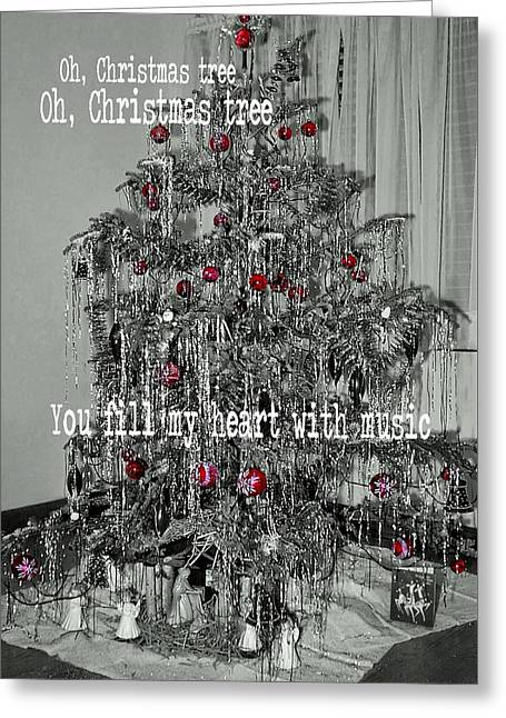 O Tannenbaum Quote Greeting Card by JAMART Photography