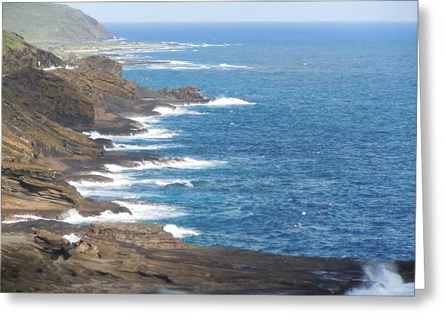 Oahu Coastline Greeting Card