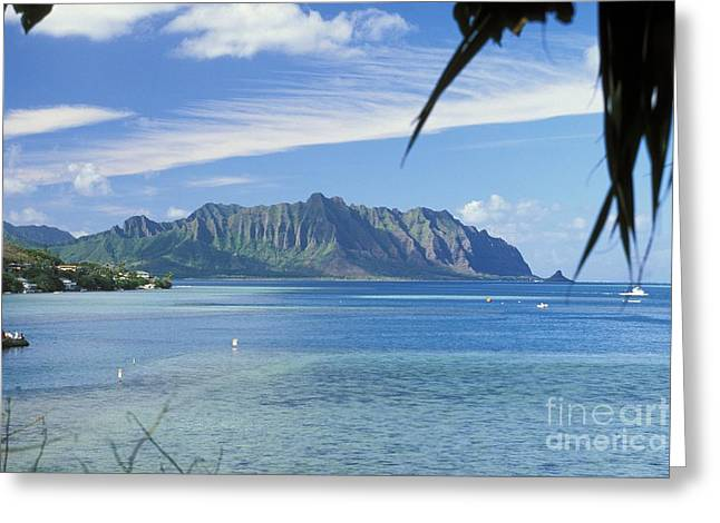 Oahu, Kaneohe Bay Greeting Card by Peter French - Printscapes
