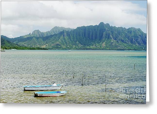 Oahu, Kaneohe Bay Greeting Card by Vince Cavataio - Printscapes