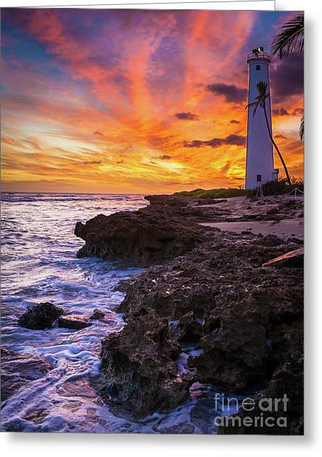 Oahu Lighthouse Greeting Card by Inge Johnsson