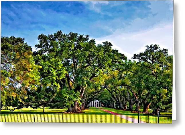 Oak Alley Plantation Greeting Card by Steve Harrington