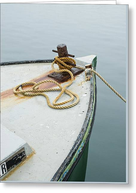 Oak Bluffs Fishing Boat Greeting Card