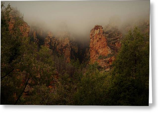 Greeting Card featuring the photograph Oak Creek Canyon Arizona by Broderick Delaney