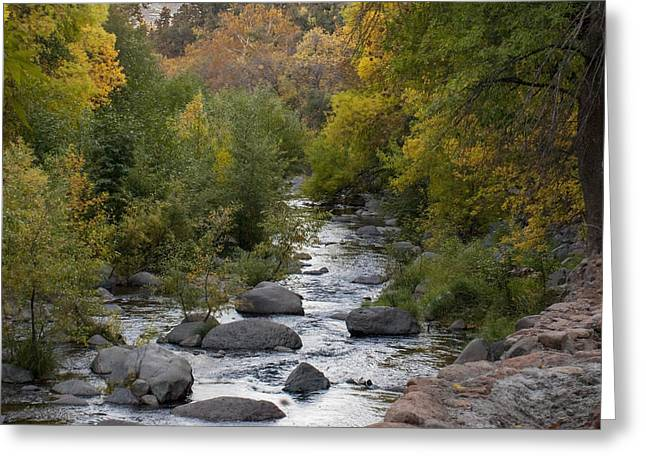 Greeting Card featuring the photograph Oak Creek Canyon by Joshua House