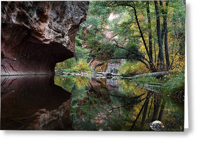 Oak Creek Canyon Reflections Greeting Card by Dave Dilli