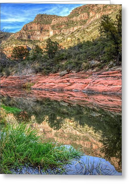 Oak Creek Canyon Greeting Card by Tom Weisbrook