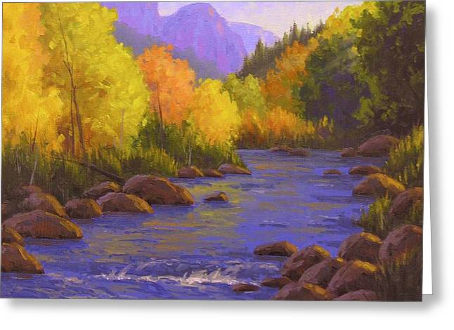 Oak Creek Color Show Greeting Card by Cody DeLong