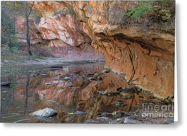 Greeting Card featuring the photograph Oak Creek Reflections - Sedona, Az by Sandra Bronstein