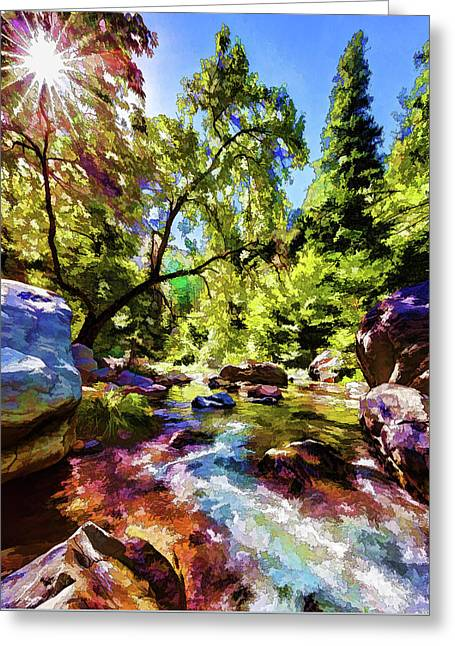 Oak Creek Sycamore Greeting Card by ABeautifulSky Photography