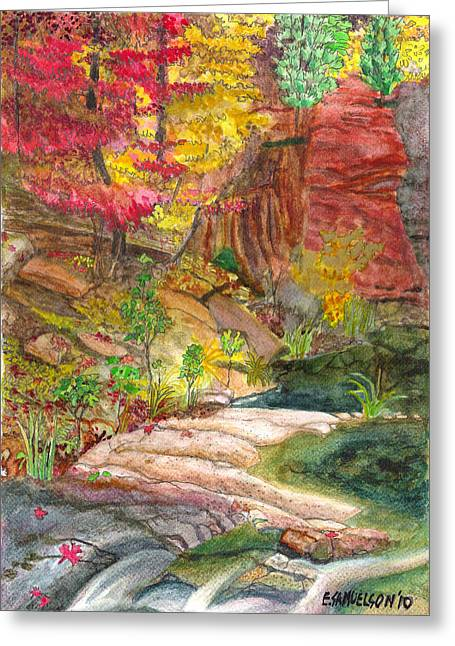 Oak Creek West Fork Greeting Card by Eric Samuelson