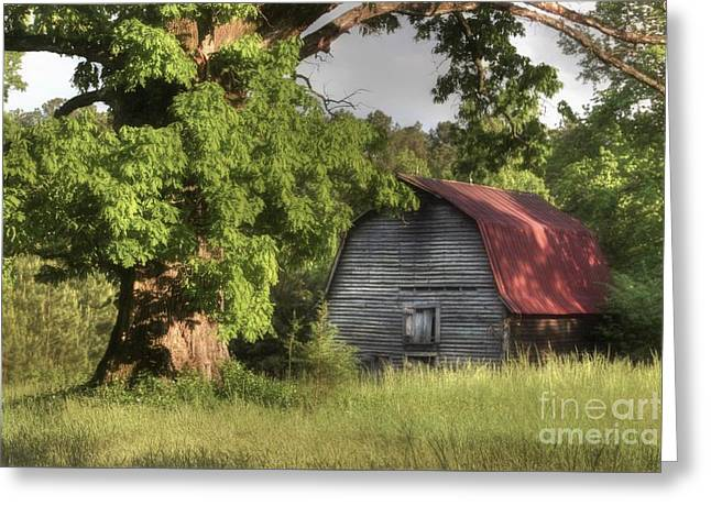 Oak Framed Barn Greeting Card by Benanne Stiens
