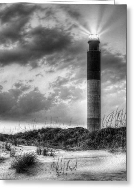 Oak Island In Black And White Greeting Card