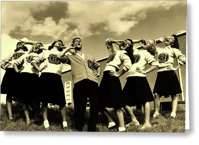 Oak Ridge High School Cheerleaders 1946 Greeting Card