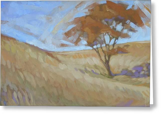 Oak Savanna, Autumn Greeting Card