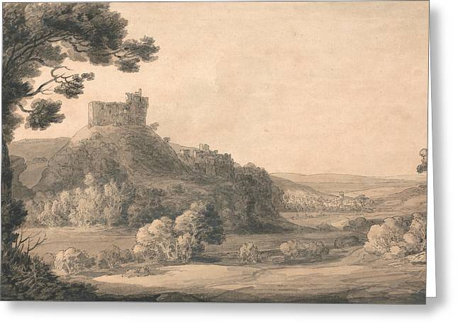 Oakhampton Castle Greeting Card by Francis Towne