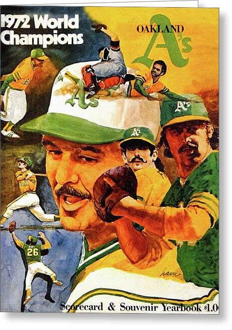 Oakland A's 1973 Yearbook Greeting Card