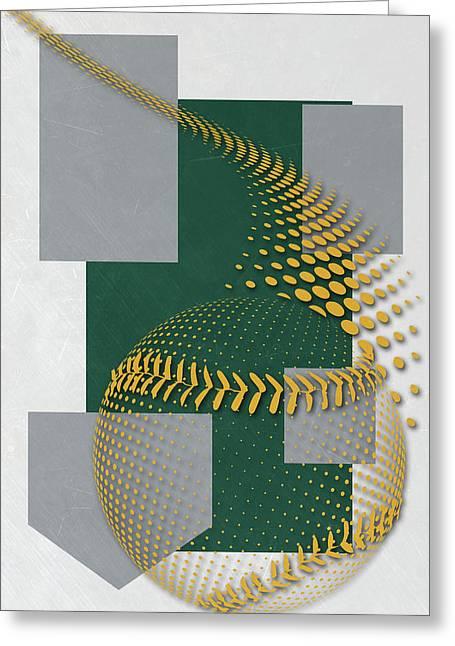 Oakland Athletics Art Greeting Card by Joe Hamilton
