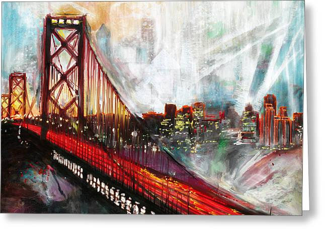 Oakland Bay Bridge 223 1  Greeting Card