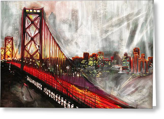 Oakland Bay Bridge 223 2 Greeting Card by Mawra Tahreem