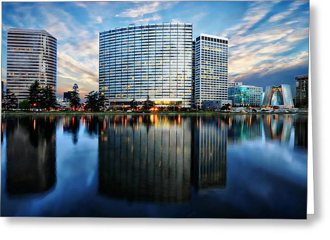 Oakland, California Cityscape Greeting Card