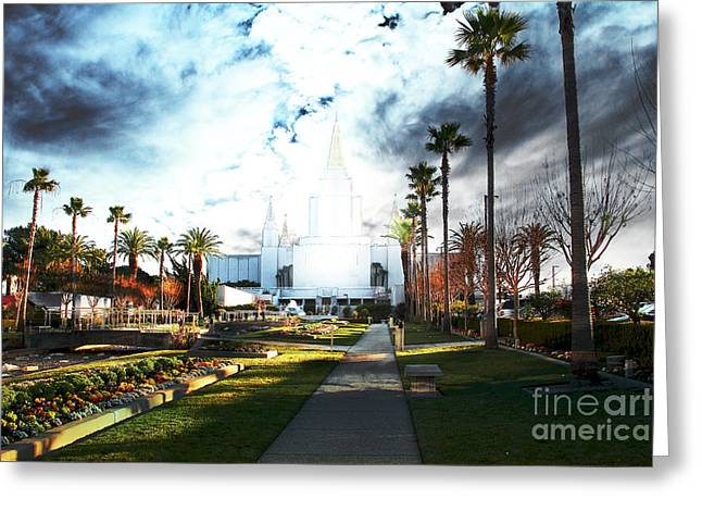 Oakland California Temple . The Church Of Jesus Christ Of Latter-day Saints Greeting Card