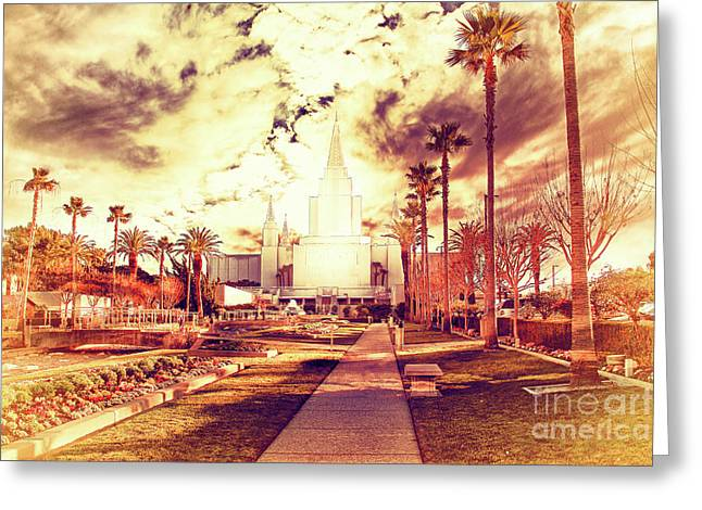 Oakland California Temple The Church Of Jesus Christ Of Latter D Greeting Card by Wingsdomain Art and Photography