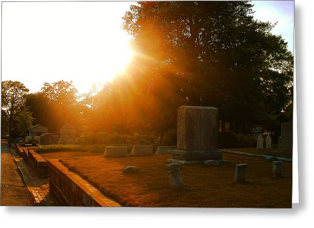 Oakland Cemetery In Atlanta Greeting Card by Utopia Concepts