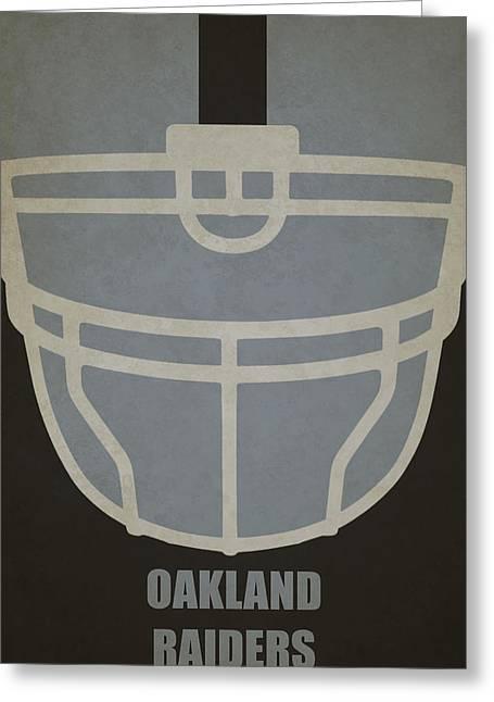 Oakland Raiders Helmet Art Greeting Card