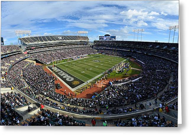 Oakland Raiders O.co Coliseum Greeting Card