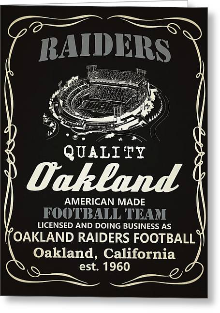 Oakland Raiders Whiskey Greeting Card