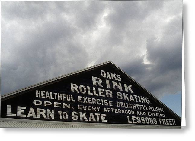 Oaks Skating Rink Greeting Card