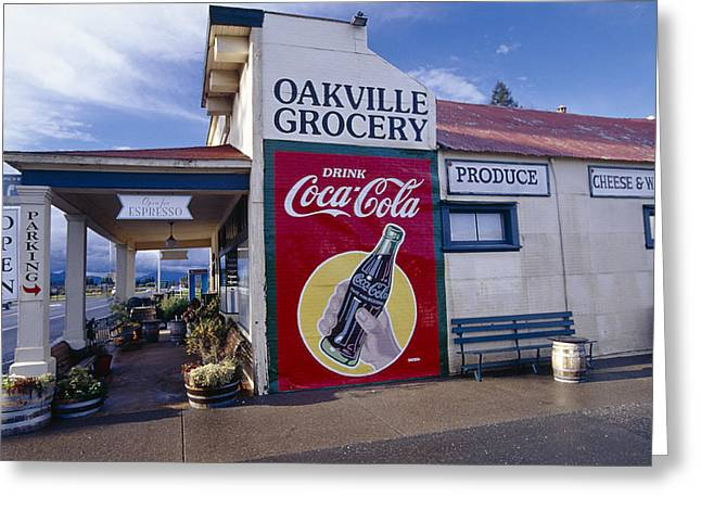 Oakville Grocery Store Napa Valley Greeting Card by George Oze