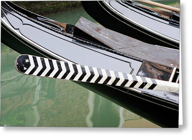 Oar Gondola Venice Greeting Card
