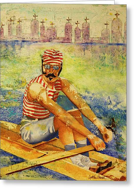 Oarsman Greeting Card