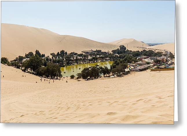 Oasis De Huacachina Greeting Card