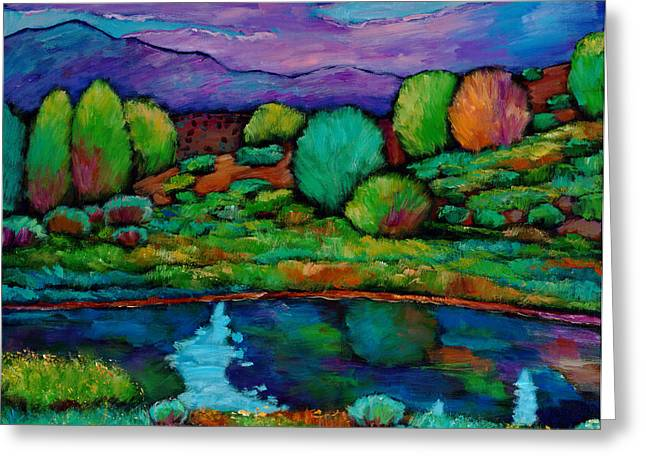 Rio Grande Greeting Cards - Oasis Greeting Card by Johnathan Harris