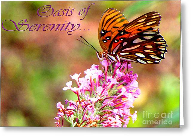 Oasis Of Serenity Greeting Card by Gardening Perfection